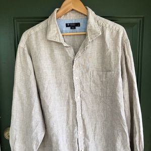 Daniel Cremieux Shirts - Daniel Cremieux linen shirt with elbow patches